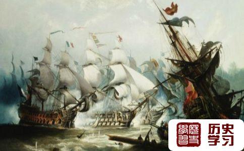 关于特拉法尔加海战的油画